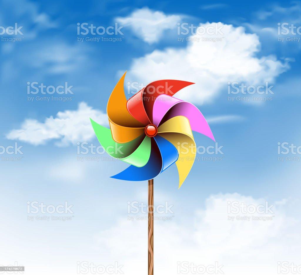 pinwheel on sky royalty-free stock vector art