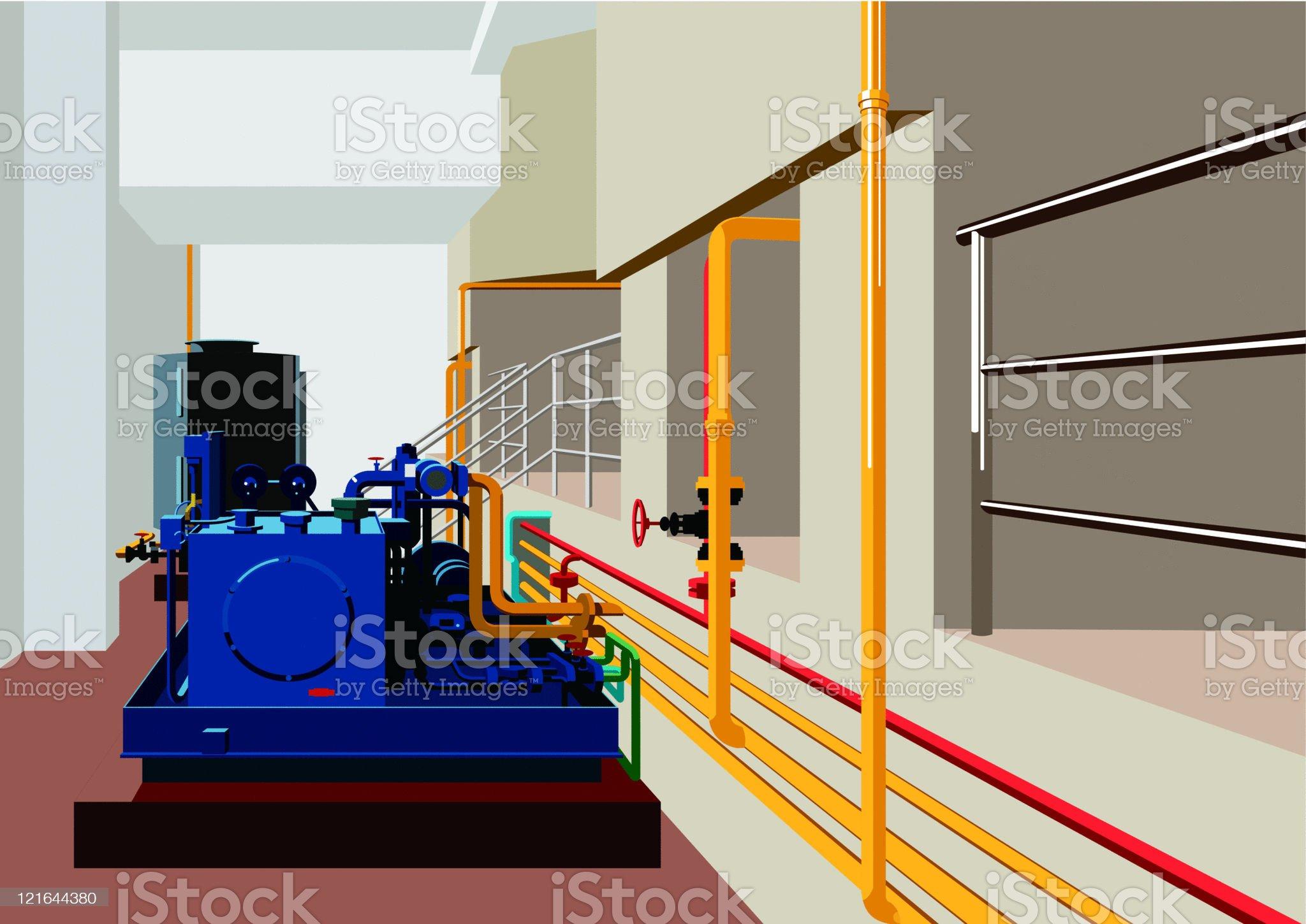 pipe and  machine equipment royalty-free stock vector art