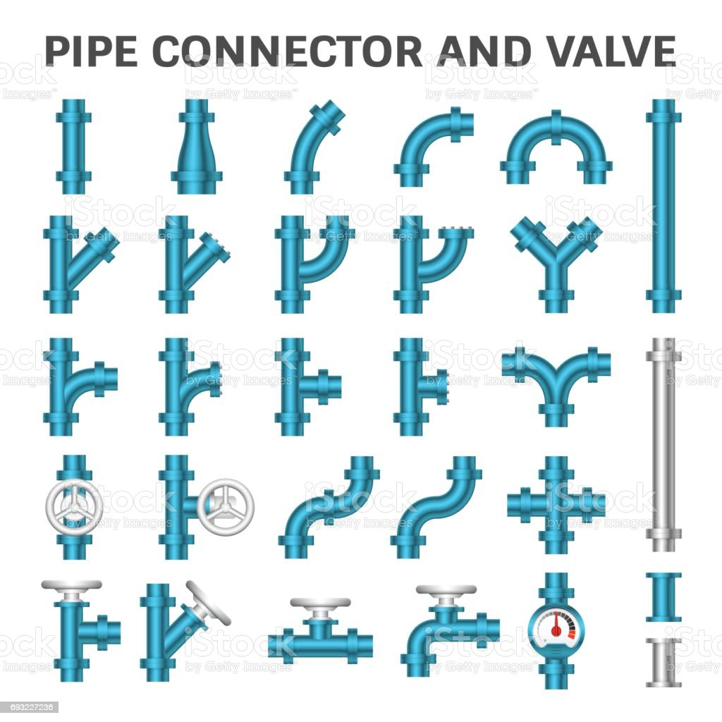 Pipe Connector Icon vector art illustration