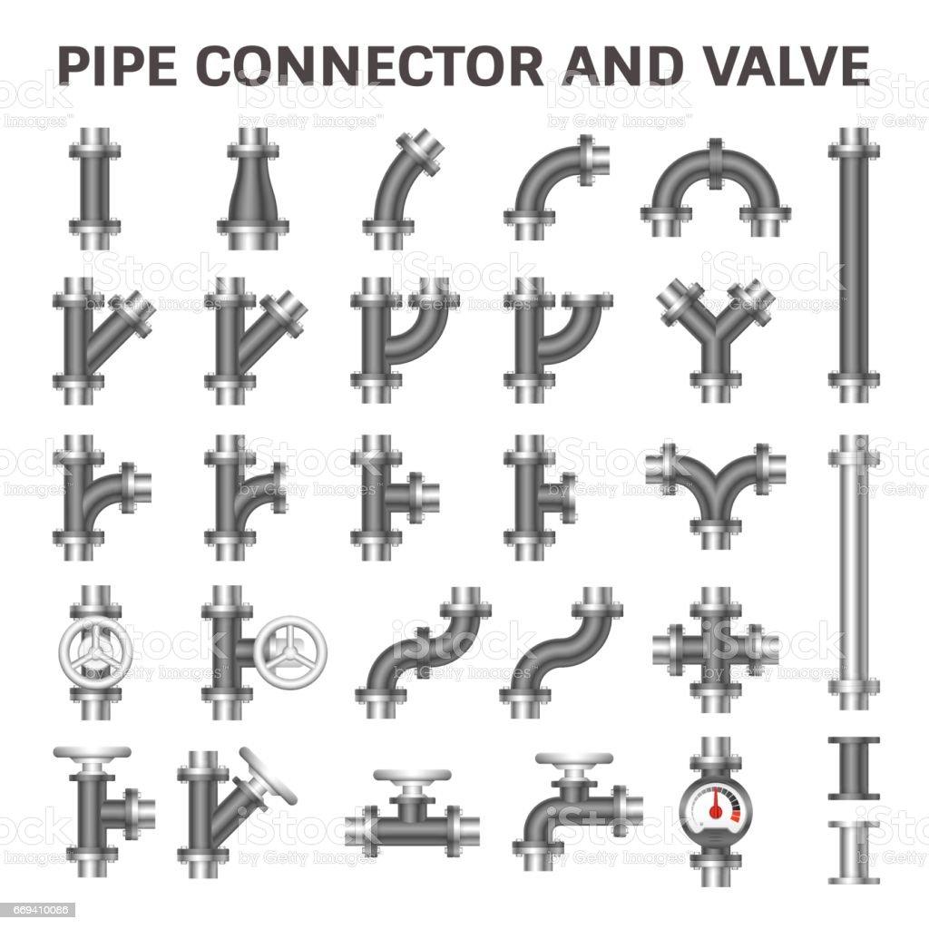 Pipe Connector Vector vector art illustration