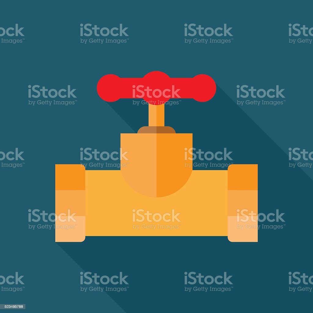 Pipe fitting icon. vector art illustration
