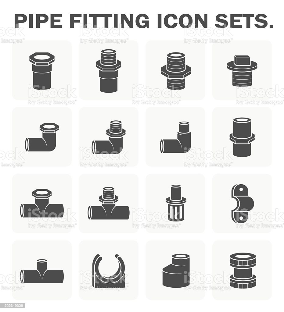 Pipe fitting icon vector art illustration