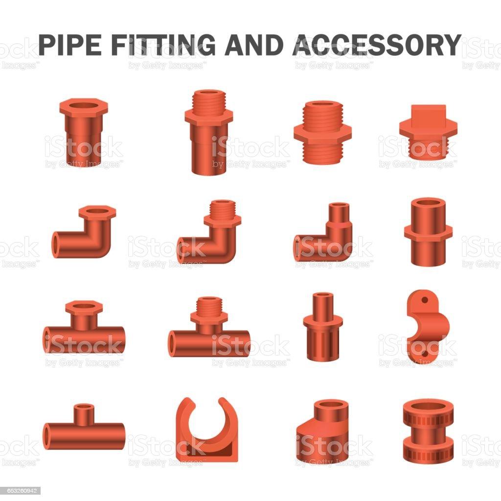 Pipe fitting vector vector art illustration