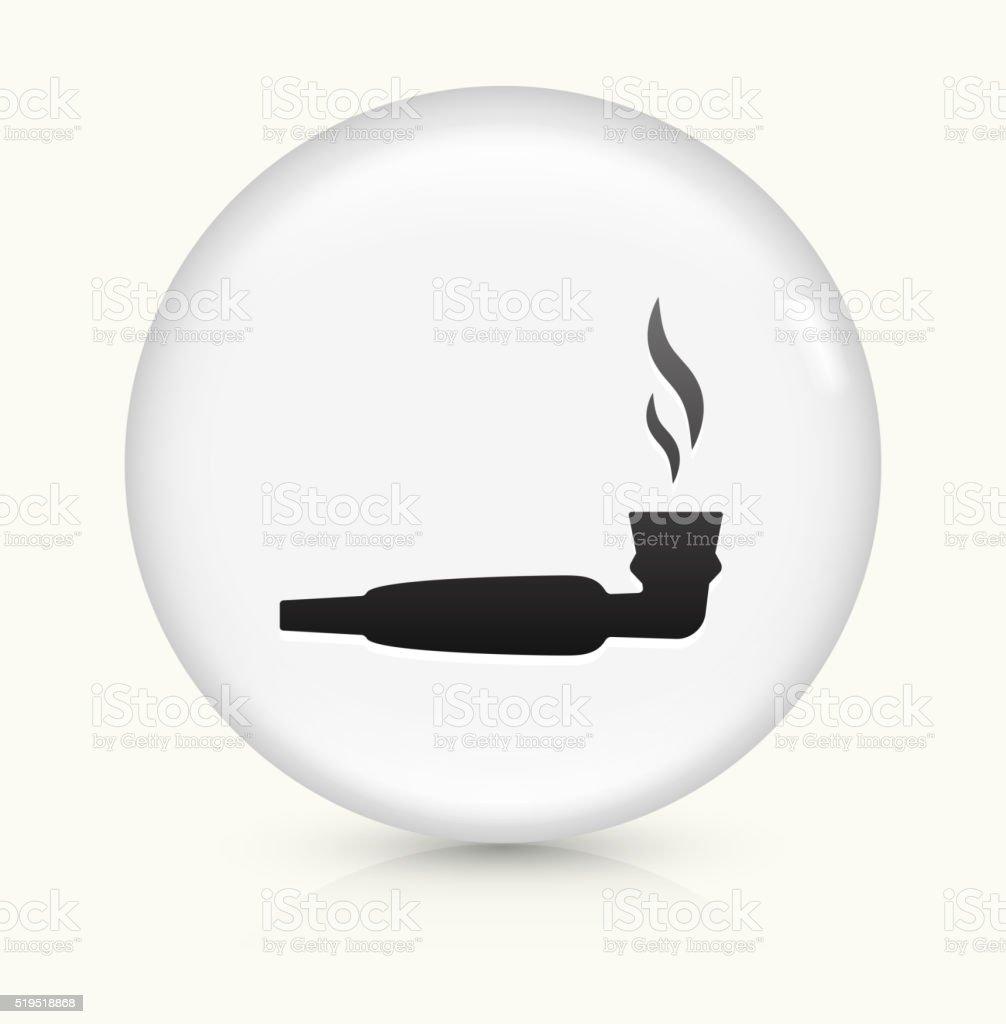 Pipe Marijuana icon on white round vector button vector art illustration