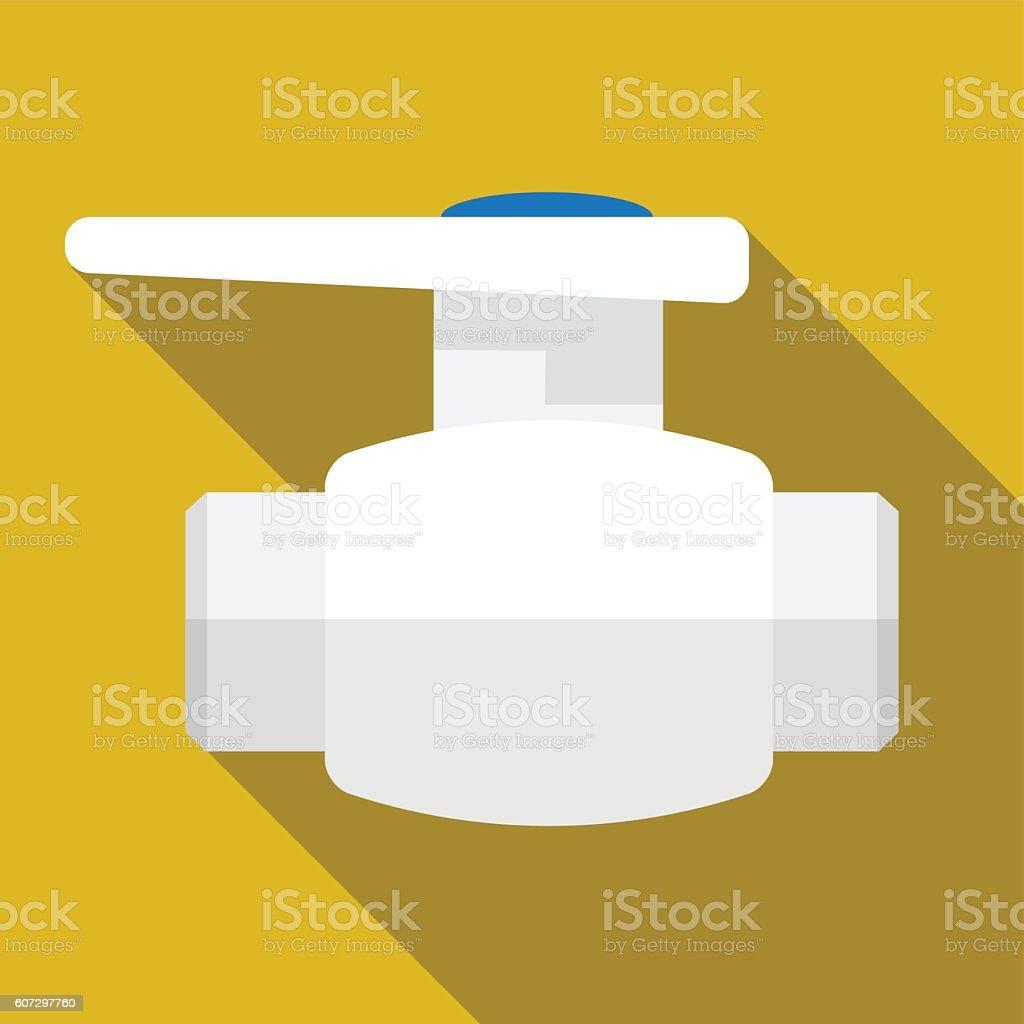 Pipe pump valve flat icon iluustration vector art illustration