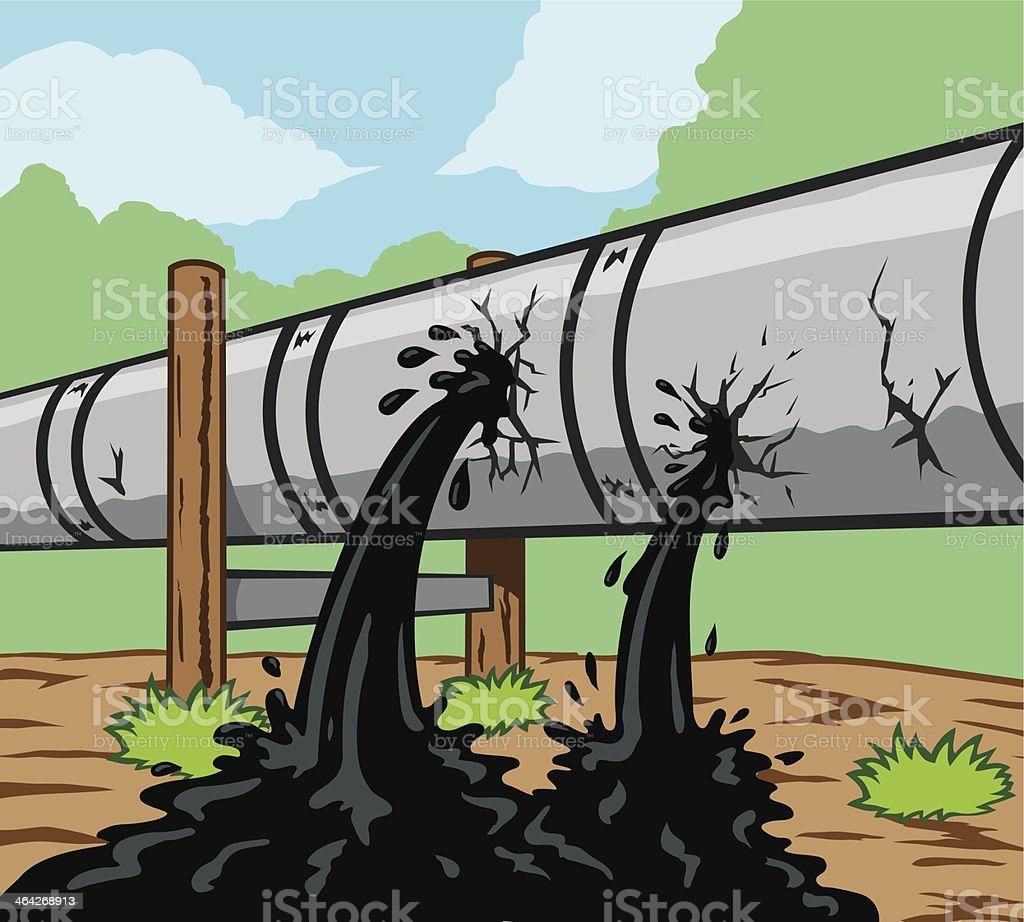 Pipeline Leak vector art illustration