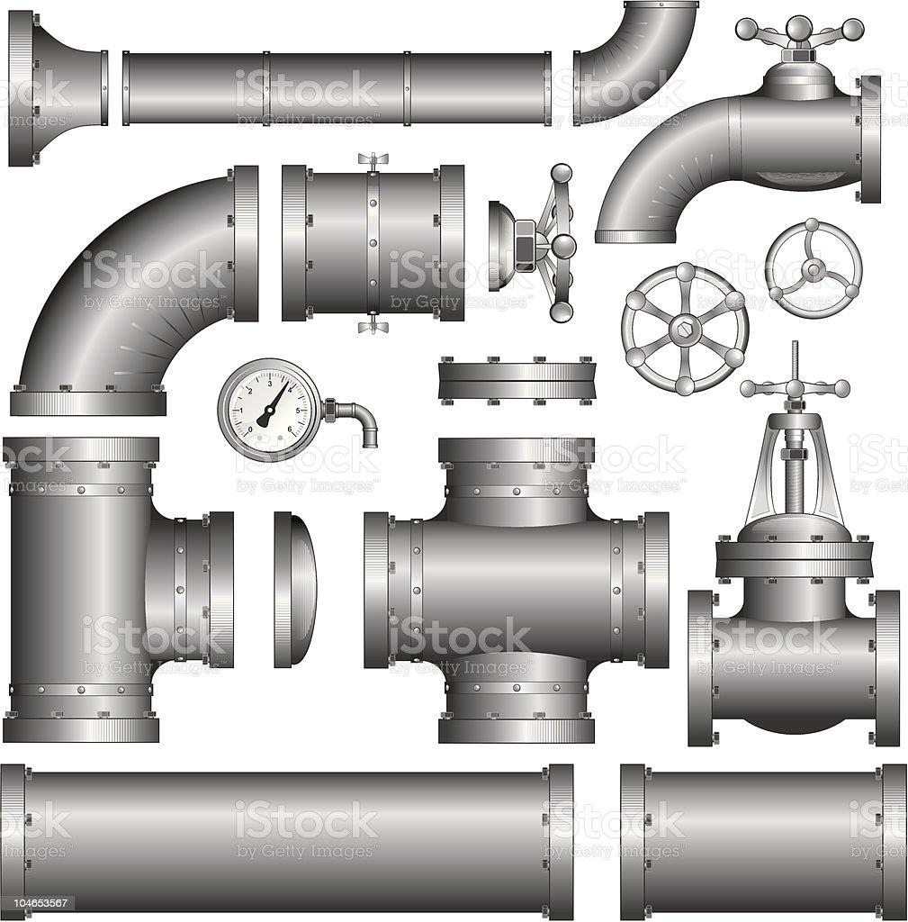 Pipeline Pipe. Vector Clipart vector art illustration