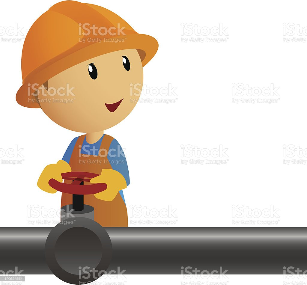 Pipeline with valves royalty-free stock vector art