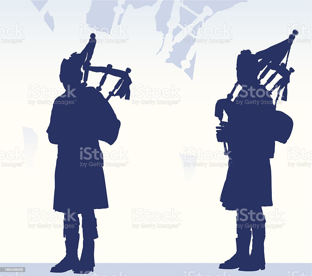 Pipers Piping royalty-free stock vector art