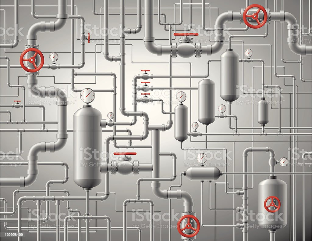 Pipes Background vector art illustration