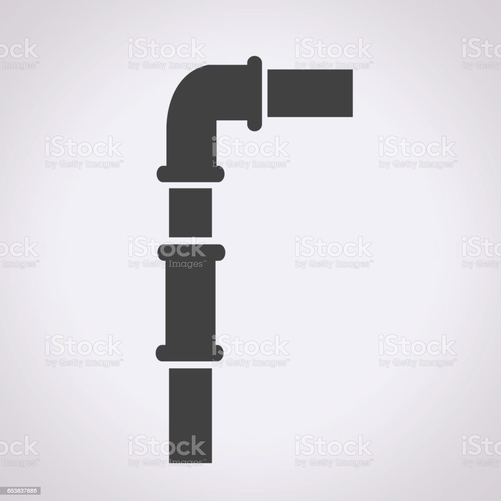 pipes icon vector art illustration