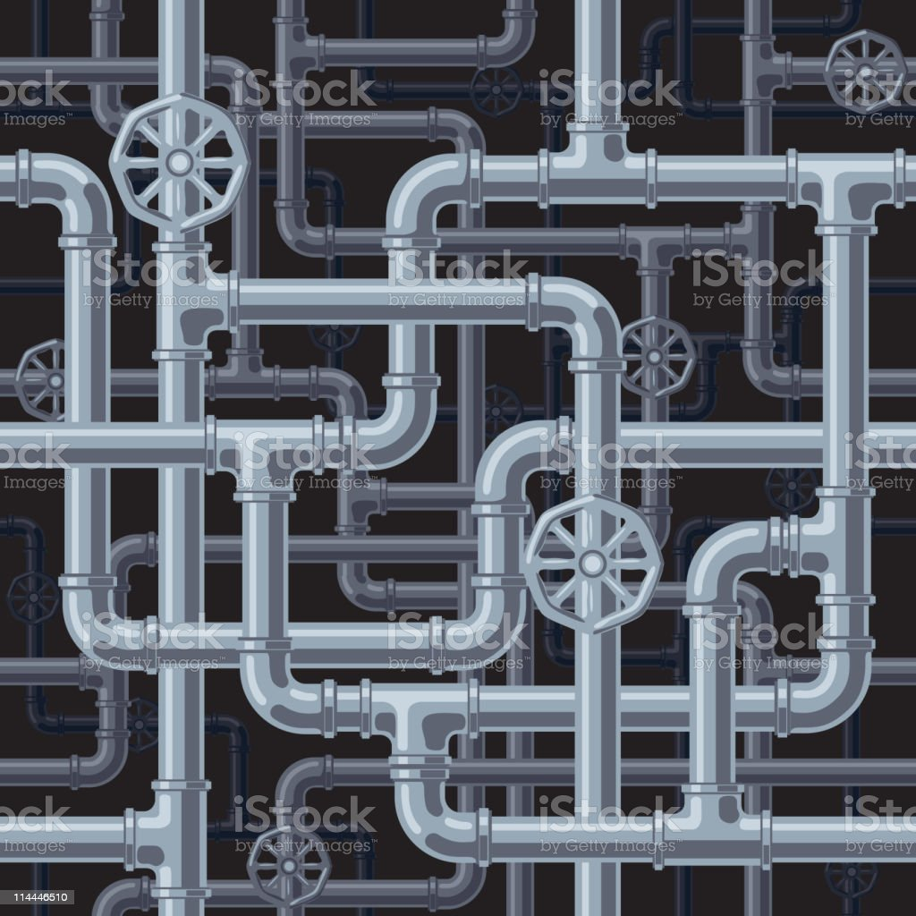 Pipes royalty-free stock vector art