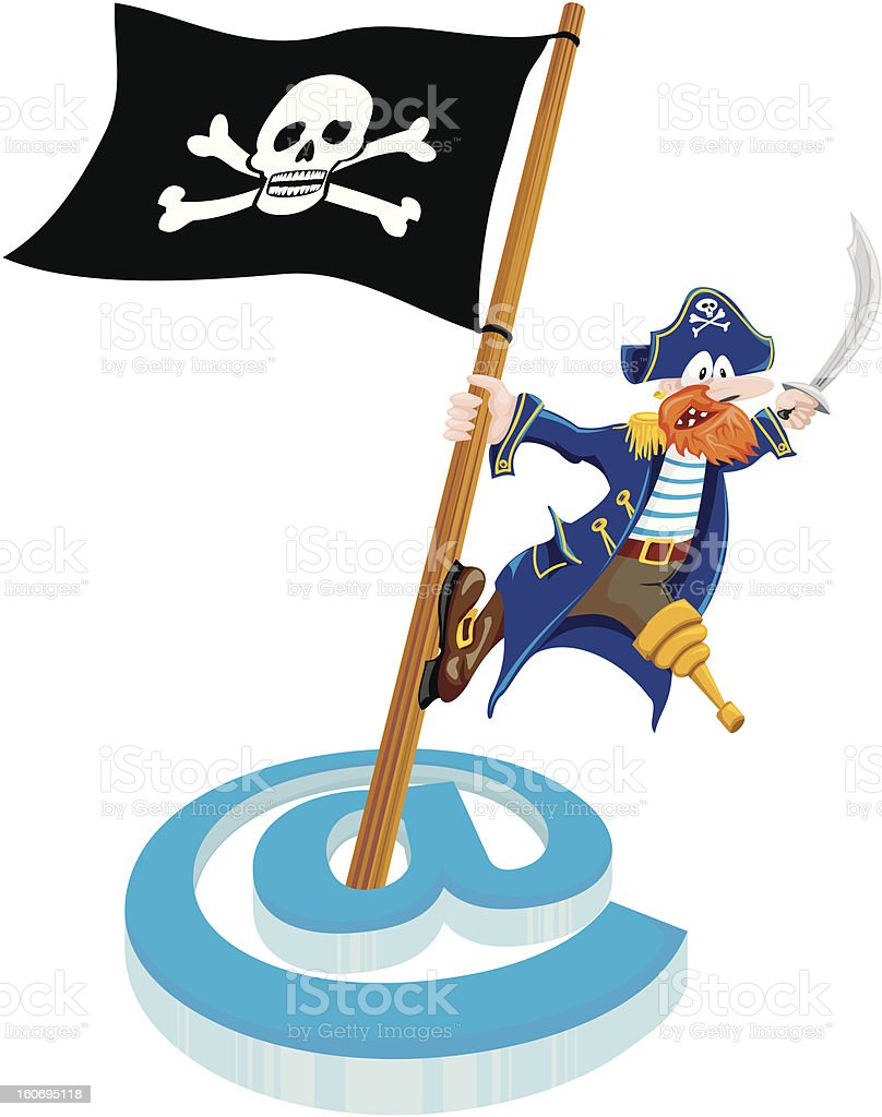 piracy - mail royalty-free stock vector art