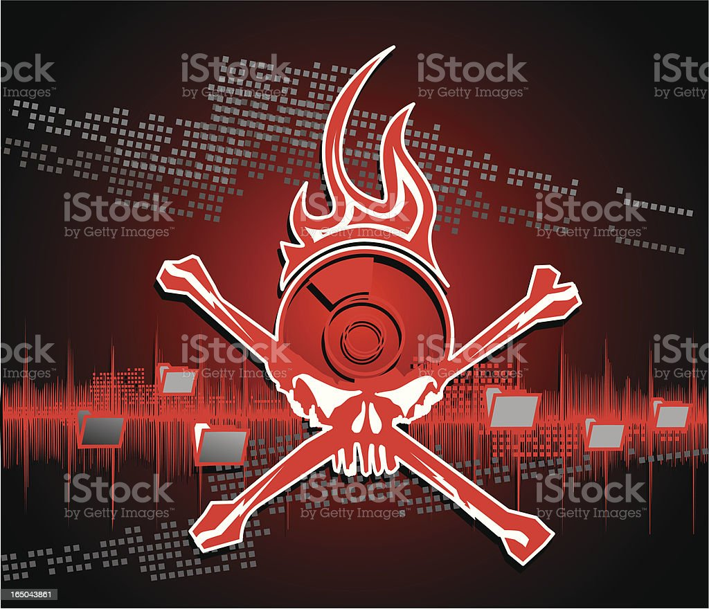 piracy stencil logo with digital background royalty-free stock vector art