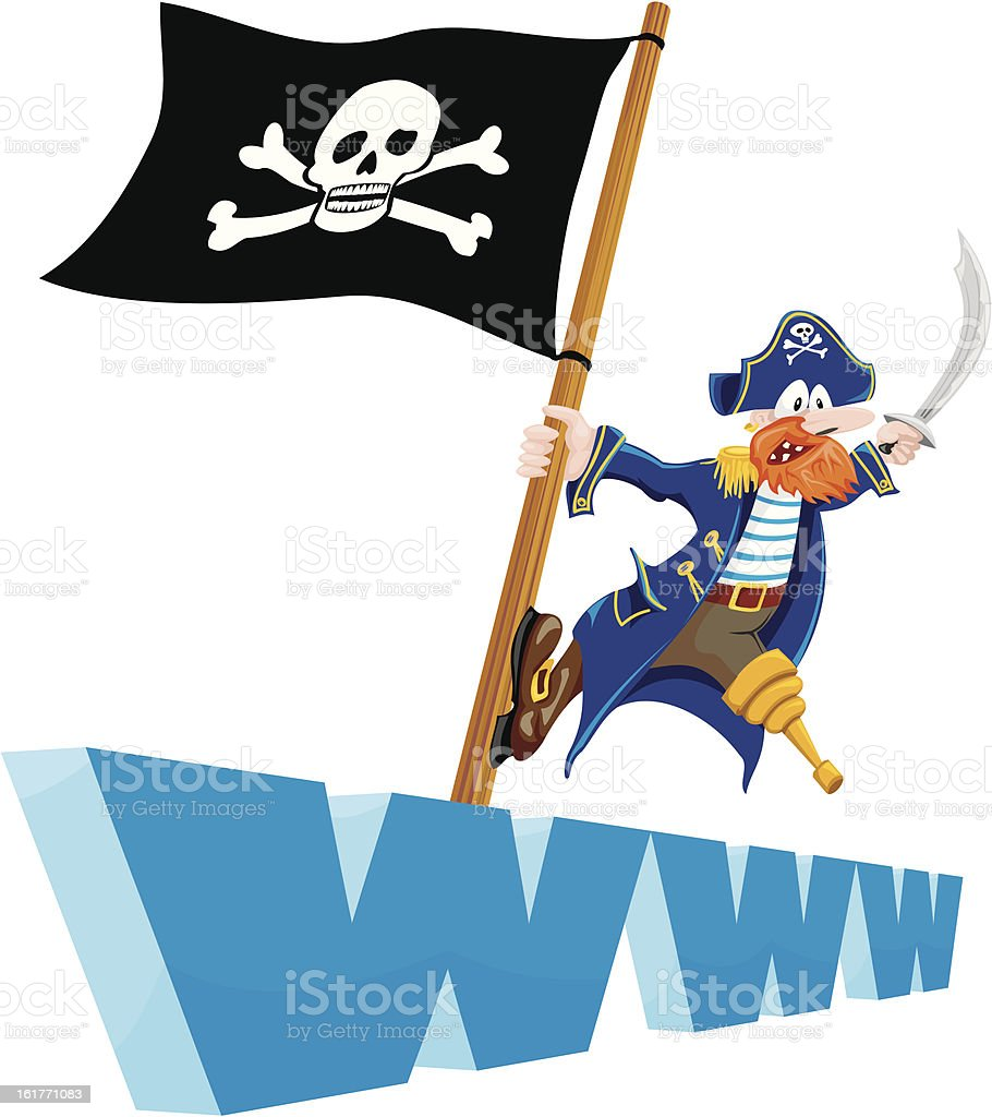 piracy - websites royalty-free stock vector art