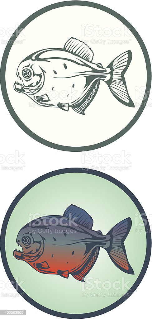 Piranha royalty-free stock vector art