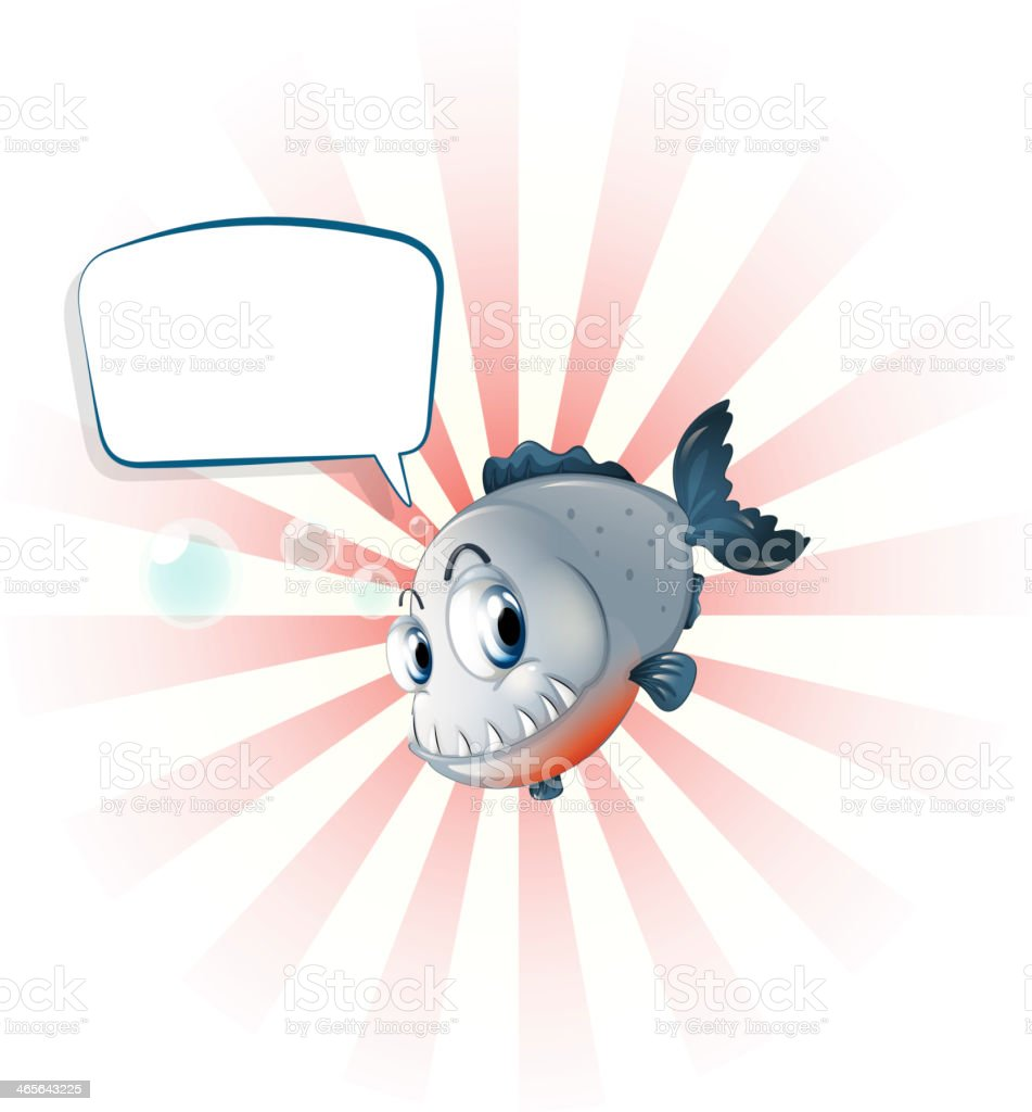 piranha with an empty callout royalty-free stock vector art