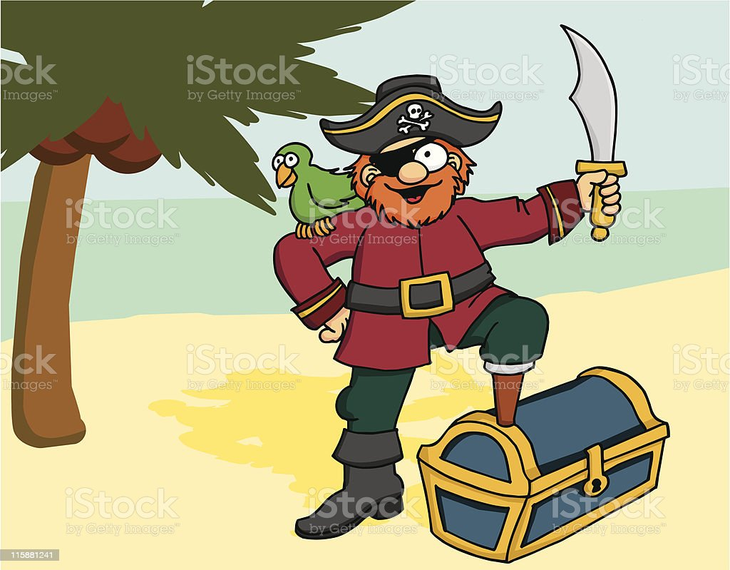 Pirate 1 royalty-free stock vector art