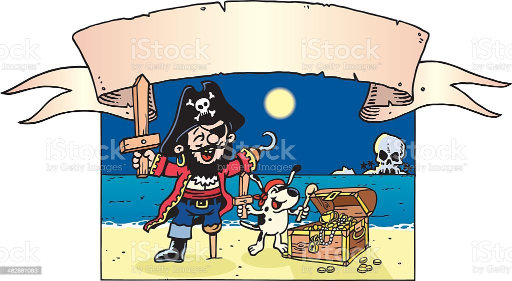 Pirate Boy royalty-free stock vector art