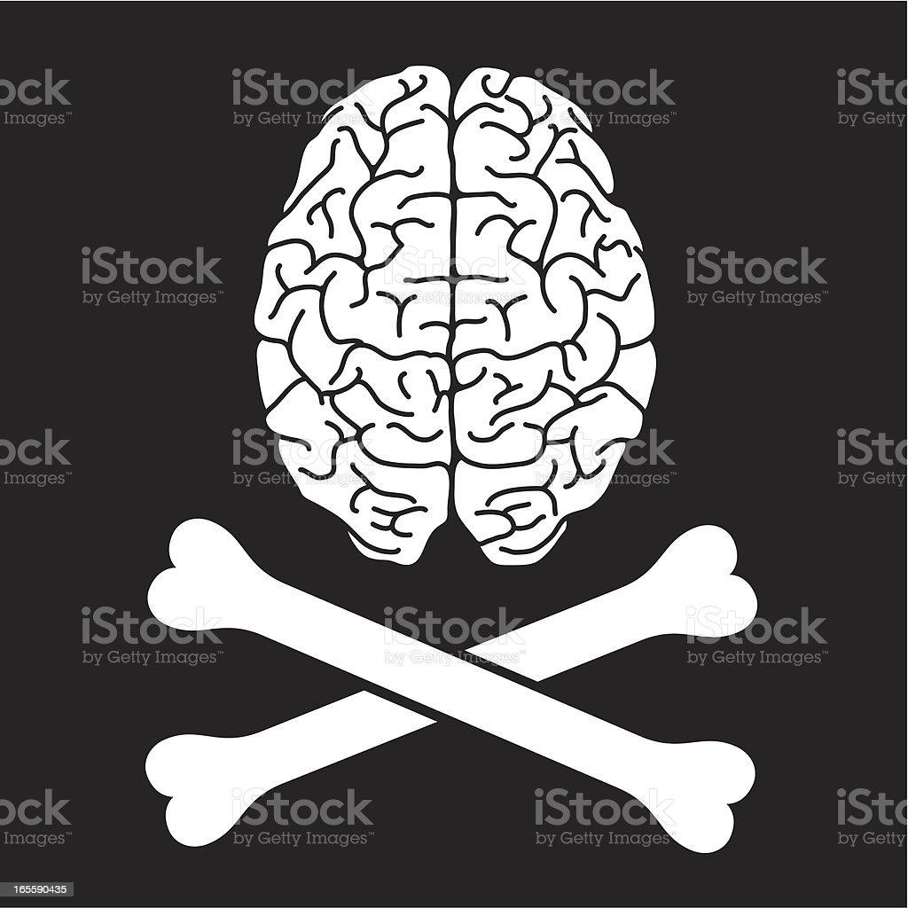 Pirate Brain vector art illustration