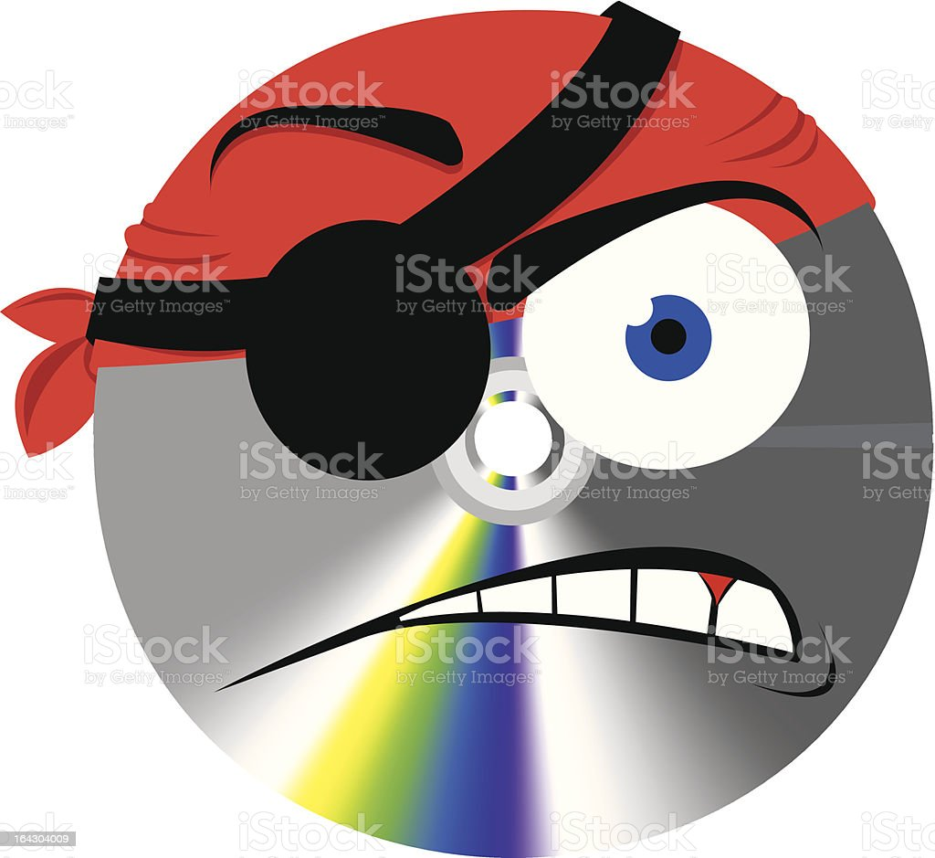 Pirate Cd or Dvd Copy vector art illustration