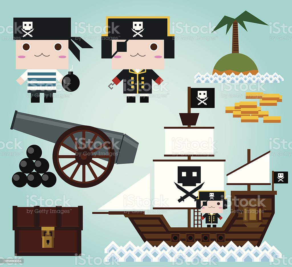 Pirate Collection royalty-free stock vector art