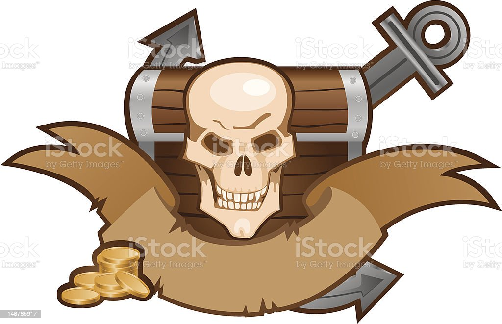 pirate composition vector art illustration