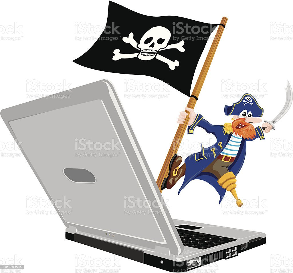 pirate computer royalty-free stock vector art