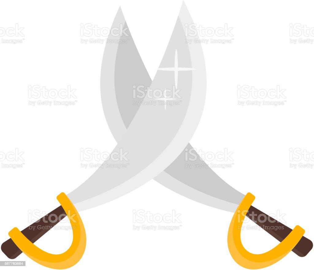 Pirate crossed swords vector art illustration
