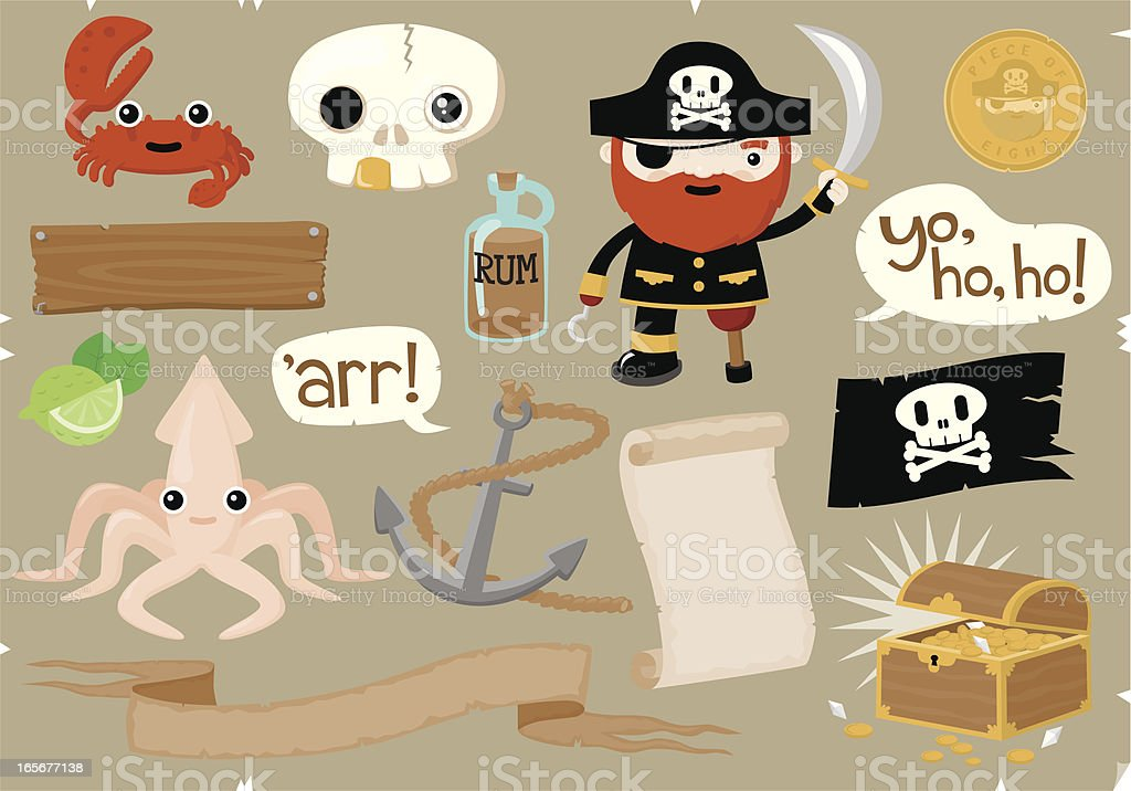 Pirate Elements royalty-free stock vector art