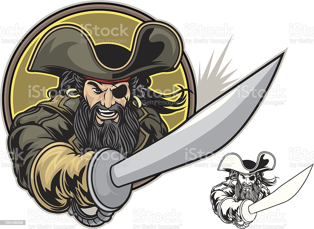 Pirate Fight royalty-free stock vector art
