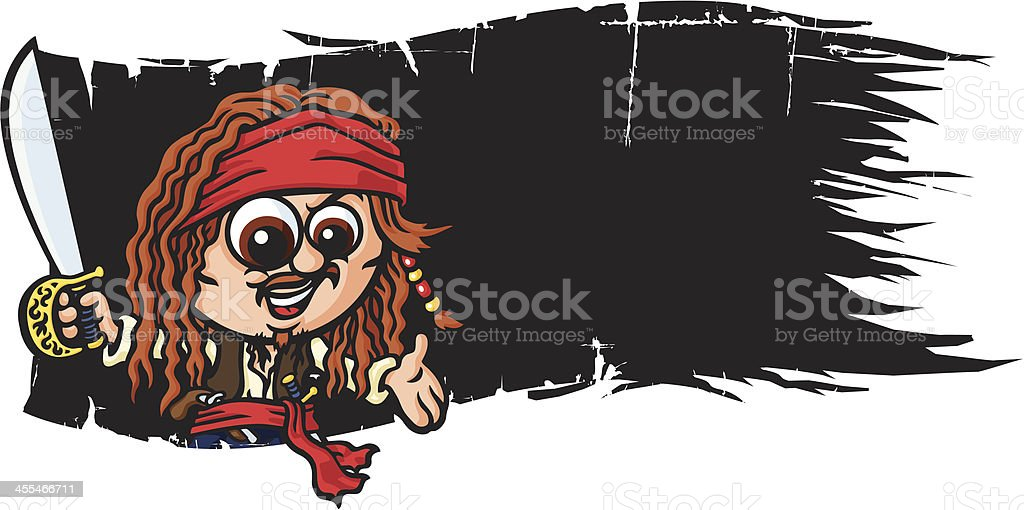 Pirate Flag Invite vector art illustration