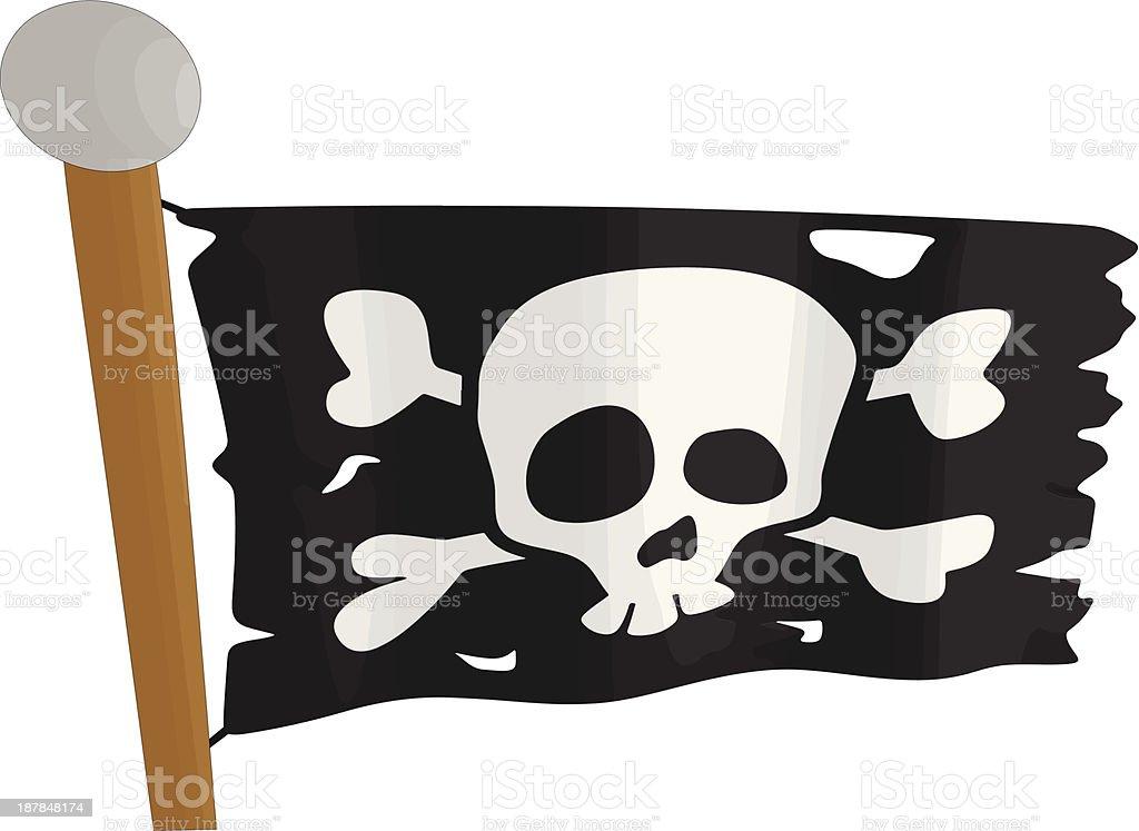 Drapeau de Pirate stock vecteur libres de droits libre de droits