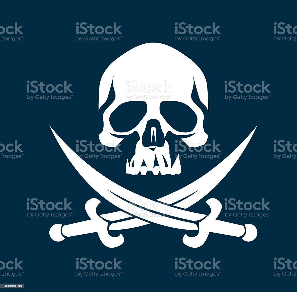 Pirate Flag vector art illustration