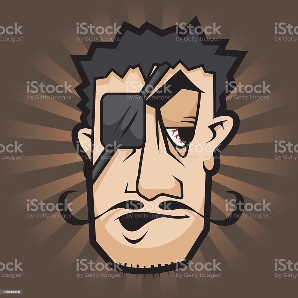 Pirate guy 2 vector art illustration