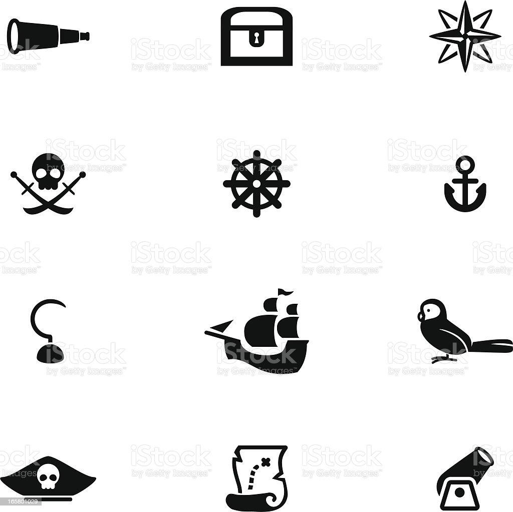 Pirate Icon Set vector art illustration