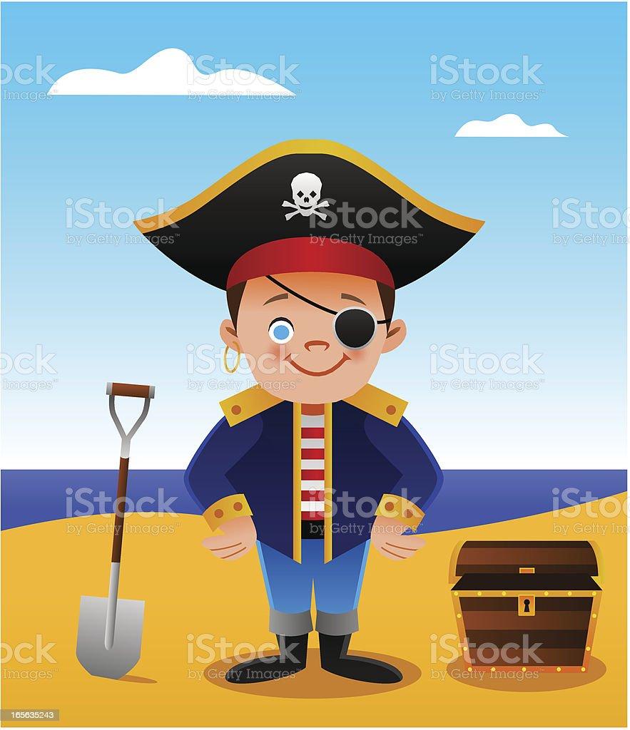 Pirate Kid royalty-free stock vector art