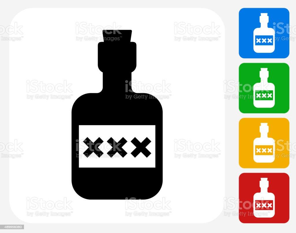 Pirate Rum Icon Flat Graphic Design vector art illustration