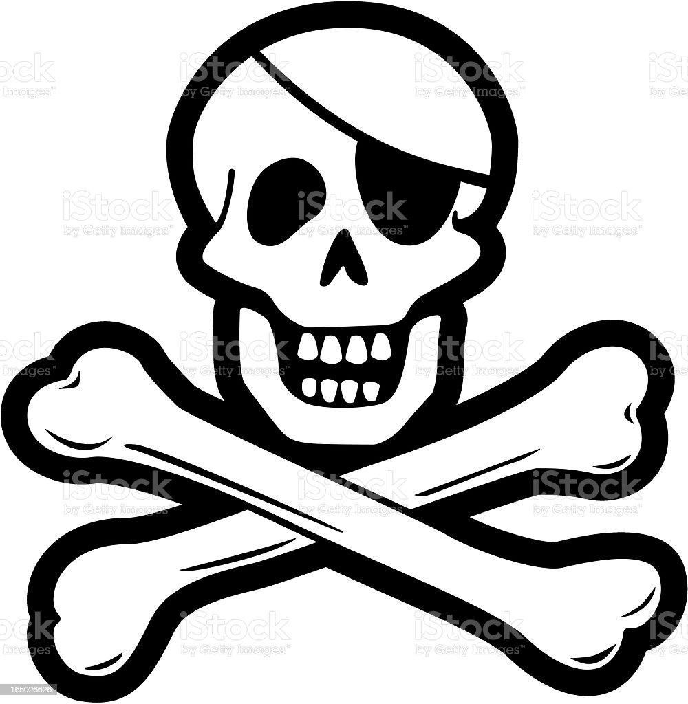 Pirate Skull & Cross bones (vector) vector art illustration
