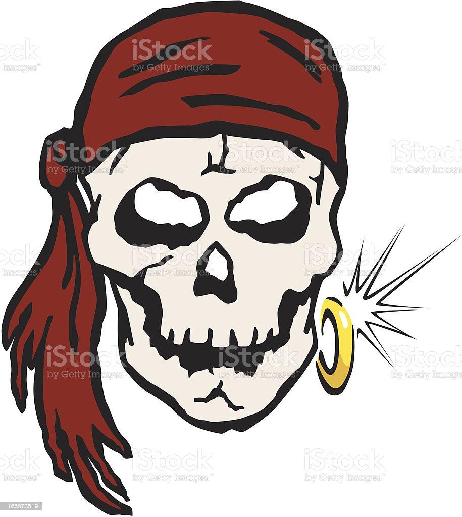 Pirate Skull royalty-free stock vector art