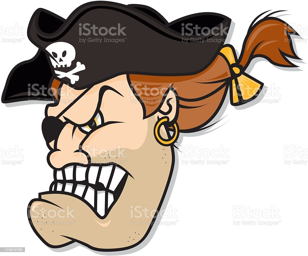 Pirate royalty-free stock vector art