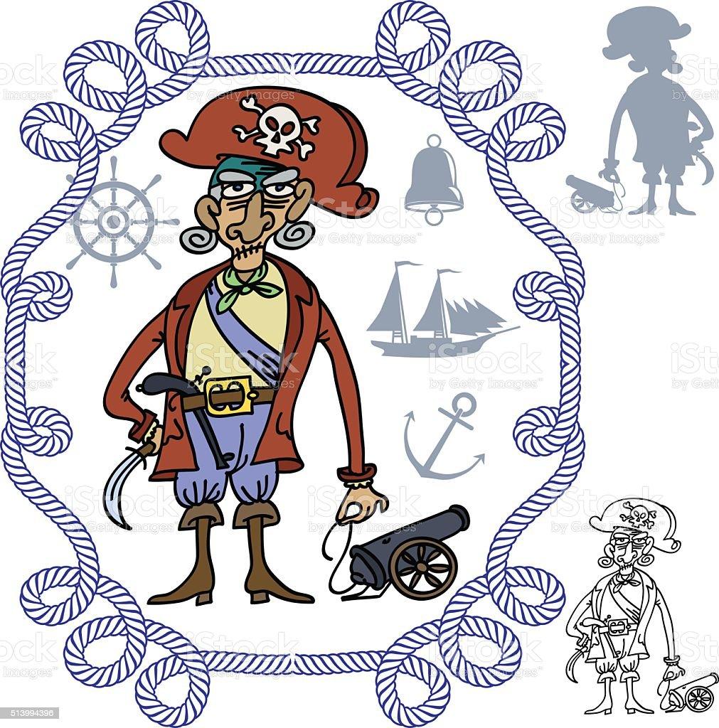 Pirate vector art illustration