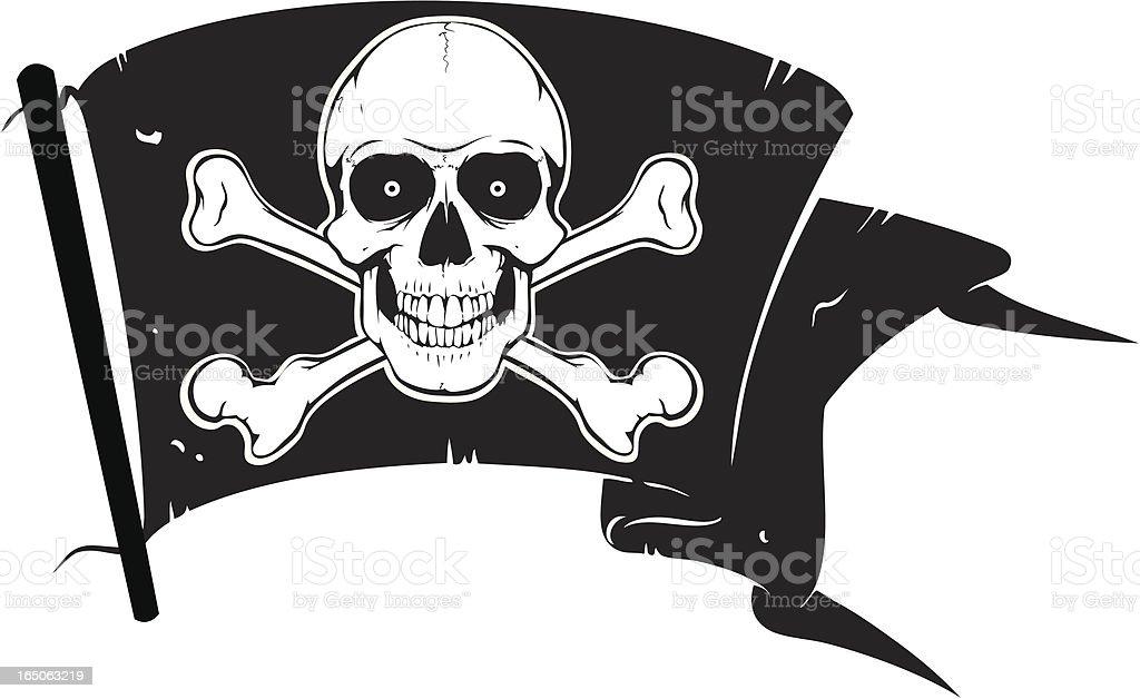 Pirates Flag royalty-free stock vector art