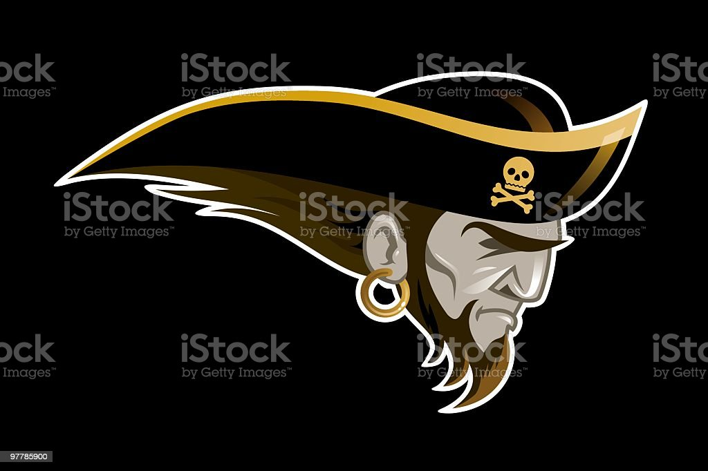 Pirates of New England vector art illustration