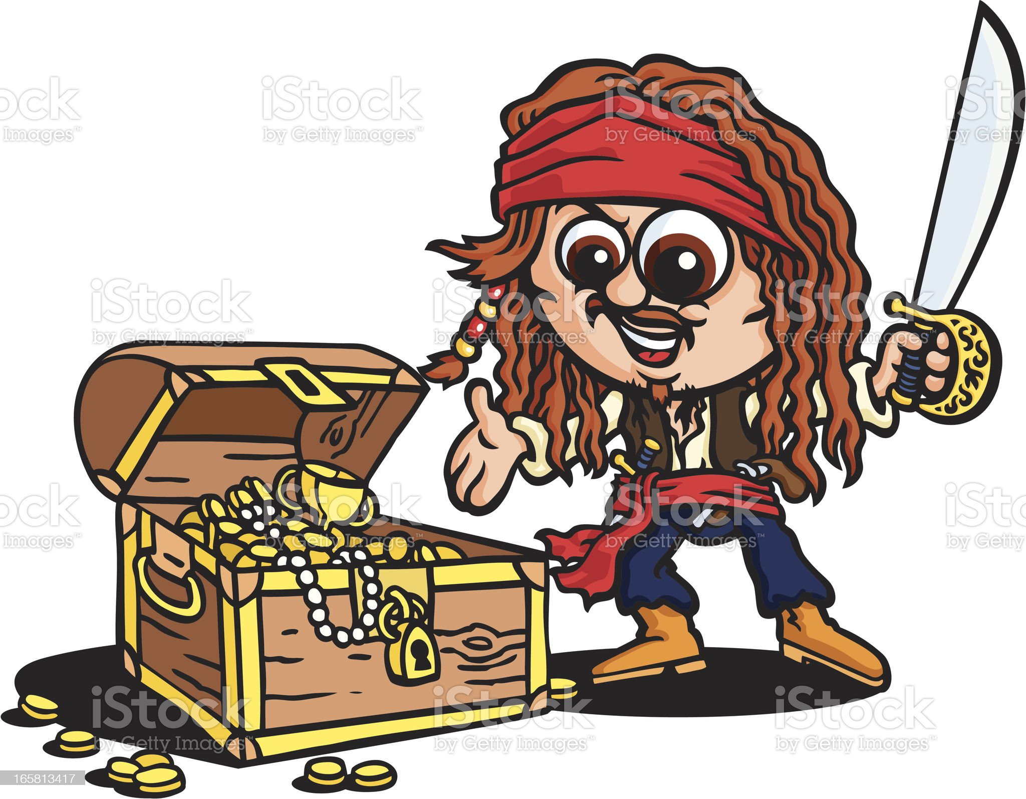 Pirate's Treasure royalty-free stock vector art