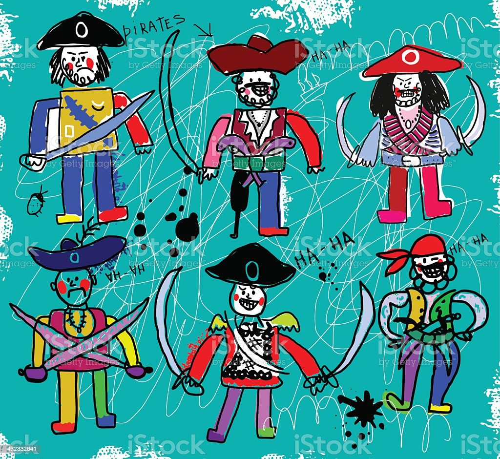 Pirates royalty-free stock vector art