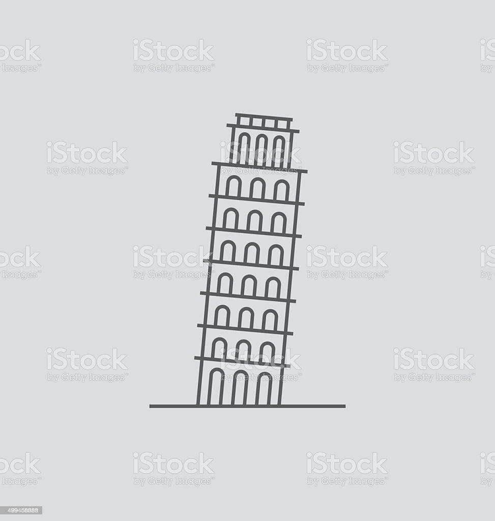 Pisa Tower line Illustration vector art illustration