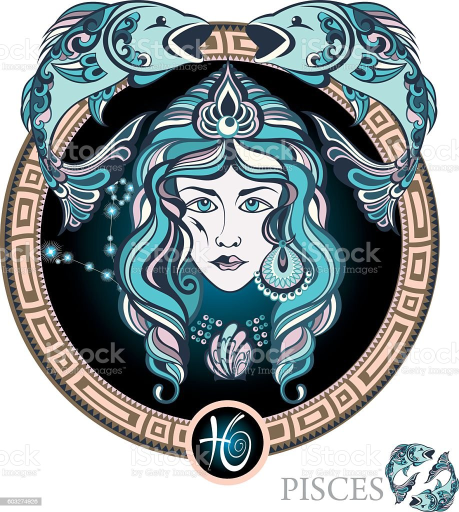 Pisces vector art illustration