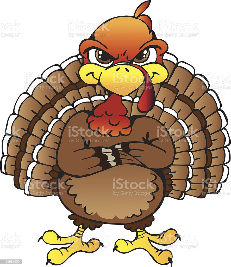 Pissed Off Turkey royalty-free stock vector art