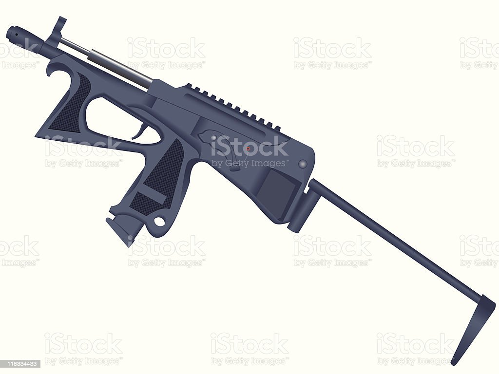 Pistol - a machine gun royalty-free stock vector art